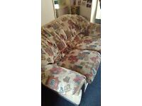Two seater sofa and big arm chair FREE