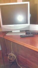 Tv and DVD comb plus freeview box