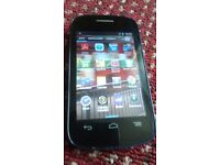 ALCATEL ONE TOUCH BLUE AND MINT AND UNLOCK TO ALL NETWORK