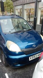 Toyota Yaris Verso - Private quick sale because of missing keys - £500 ono