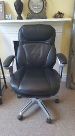 5 Five Office Chairs Black Leather Chair
