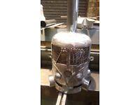 vw camper gas bottle woodburner