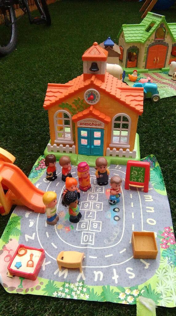 Large ELC Happyland bundle including police station, post office, cottage and many figures/cars
