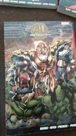 7 marvel Graphic novels including Age of Ultron and Civil War 1 to 7