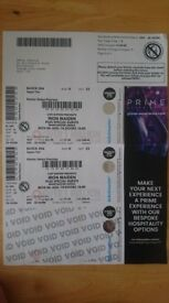 2 x Iron Maiden concert tickets for 18:00 6th August at Manchester Arena