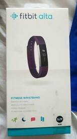 Fitbit alta plum brand new sealed in box