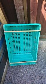 Green storage crates