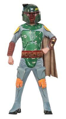 Jungen Kind Star Wars Deluxe Boba Fett Kostüm Outfit (Star Wars Boba Fett Kind Kostüme)