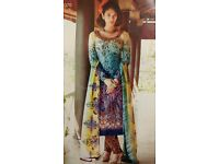Lawn dress with embroideey motifs £25