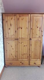 Double Bed, Drawers and Wardrobe