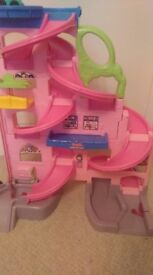 Girls Fisher Price multi story car toy,