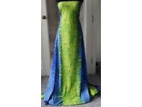 New Green & Blue Viscose Fabric 3Mts