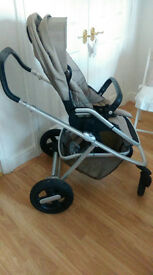 Nuna Ivvi pram/buggy with carrycot and car seat adapters