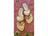 NEW Designer ARTE PIEDI Strappy Silver Metal diamante Jewel Pink Blue Gold Green Shoes Size 40 PROM