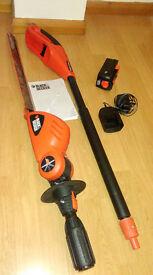 Black + Decker Battery powered GTC800 Pole Hedgetrimmer