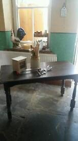 oak farmhouse dining room table This weekend only £40!