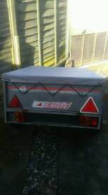 Erde metal galvanized trailer load light weight tipper. With tailgate