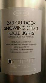 240 outdoor snowing effect icicle lights