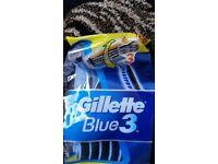 Brand New & Unused in original unopened packing - 12 razors of Gillette Blue 3