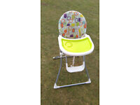 Very handy light high chair
