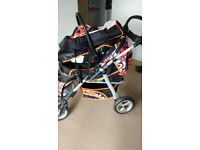 Baby Pram Stroller Pushchair Car Seat Carrycot Travel System Buggy