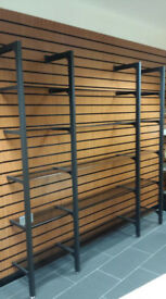 Shop fitting Black Glass Shelving display system home office retail