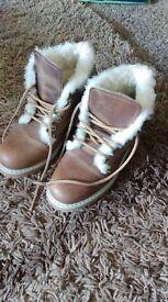 Tan Colour Boots Size 5