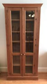 Solid Pine Display Cabinet.