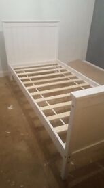 Single bed frame white great condition