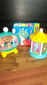 in the night garden toys, great condotion