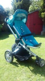 Quinny Buzz 3 in 1 Travel System - blue pushchair, pram