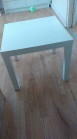 IKEA white Lack table (matte)