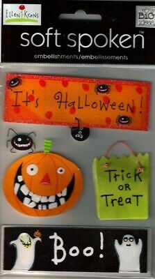 HAPPY HALLOWEEN Boo Candy Beware Ghouls Goblins Spooky MAMBI Stickers
