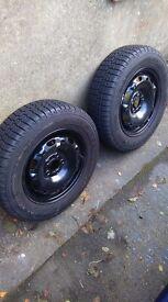 175/70/14 Snow tyres on rims