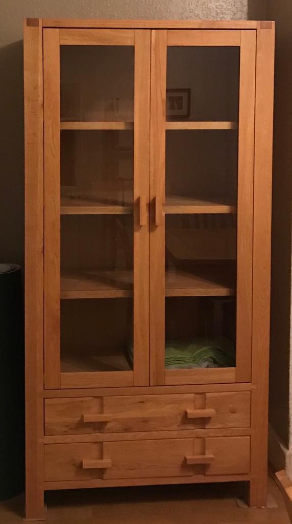 John Lewis Solid Wood Drinks Cabinet