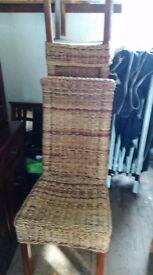 Set of 4 Banana Leaf Chairs