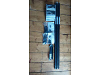 NEW Ikea Hugad Curtain Rail System, Black, ideal for Bay Windows or Other RRP £50
