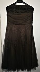 monsoon strapless evening dress/gown size 14 worn once