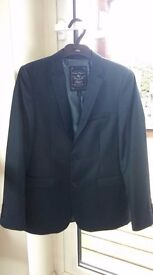 Boys Next suit, shirt and tie, navy.