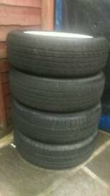 R50 mini alloy wheels and tyres