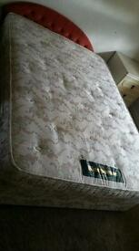 Double bed with clean mattress for sale
