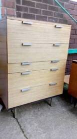 Retro bedroom drawers