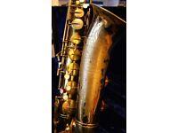 Buescher Aristocrat 156 vintage tenor saxophone