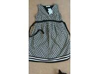 Jojo Maman Bebe Black/White Maternity Dress - Size 8