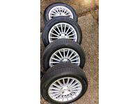 """Dunlop SP Blueresponse Tyres * 4 (195 60 15"""") on 15"""" alloys"""