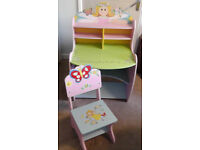 Children's Wooden Fairy Desk and Chair