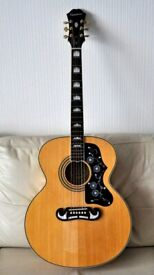 EPIPHONE EJ200 with Fitted Case