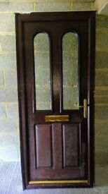 Composite Solid Front Door With Key Multi-Locking