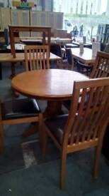 Oak dining table and X 4 chairs