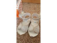 Summer Silver sandals size 3